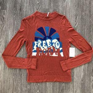 Free people terra-cotta free to roam sweater